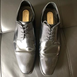 Kenneth Cole Mens Dress Shoes Black Leather